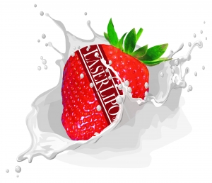 High Resolution Strawberry & Cream logo